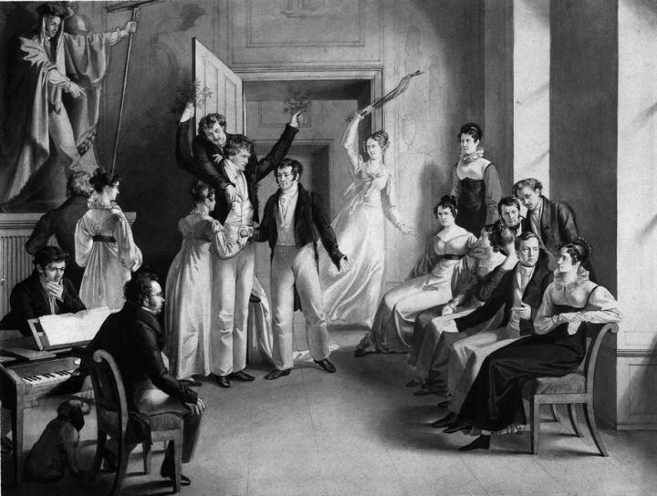 Gesellschaftsspiel mit Schubert